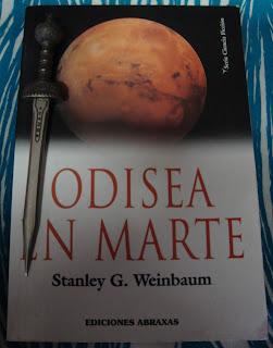 Portada del libro Odisea en Marte, de Stanley G. Weinbaum