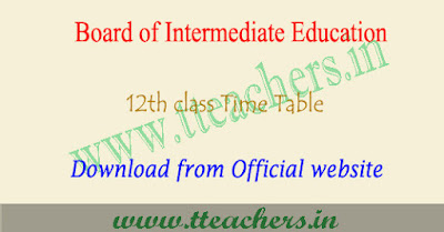 UP 12th time table 2019 Pdf download