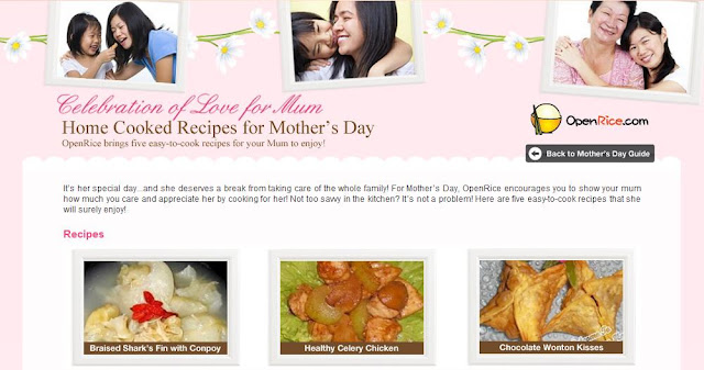 openrice mothers day recipe