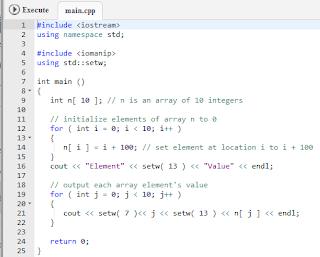 Array pada bahasa pemrograman C++