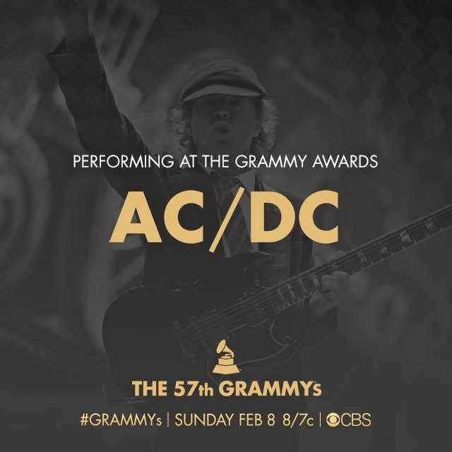 AC/DC will rock the 57th #GRAMMYs on Feb. 8!