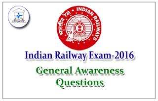 Railway Exam General Awareness Questions