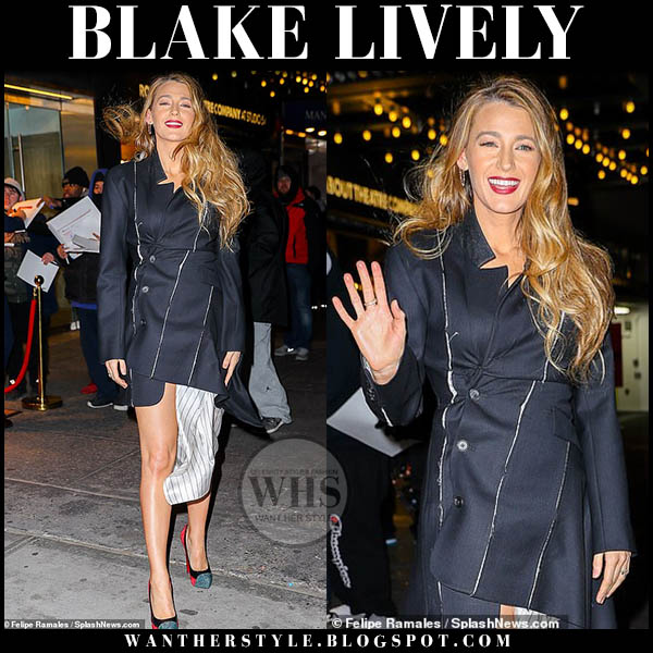 Blake Lively in deconstructed asymmetric monse blazer dress red carpet fashion january 10