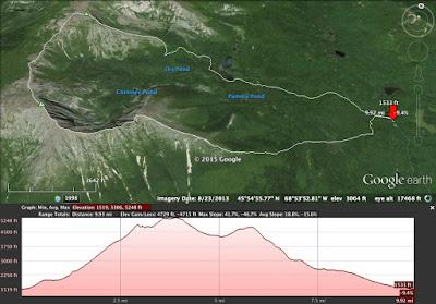 Katahdin Baxter Peak Katahdin Hamlin Peak ME 4000 Hiking ...