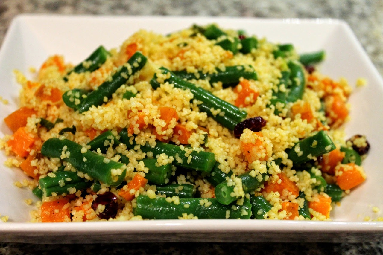 North African Green Bean and Sweet Potato Couscous Salad Roasted ...