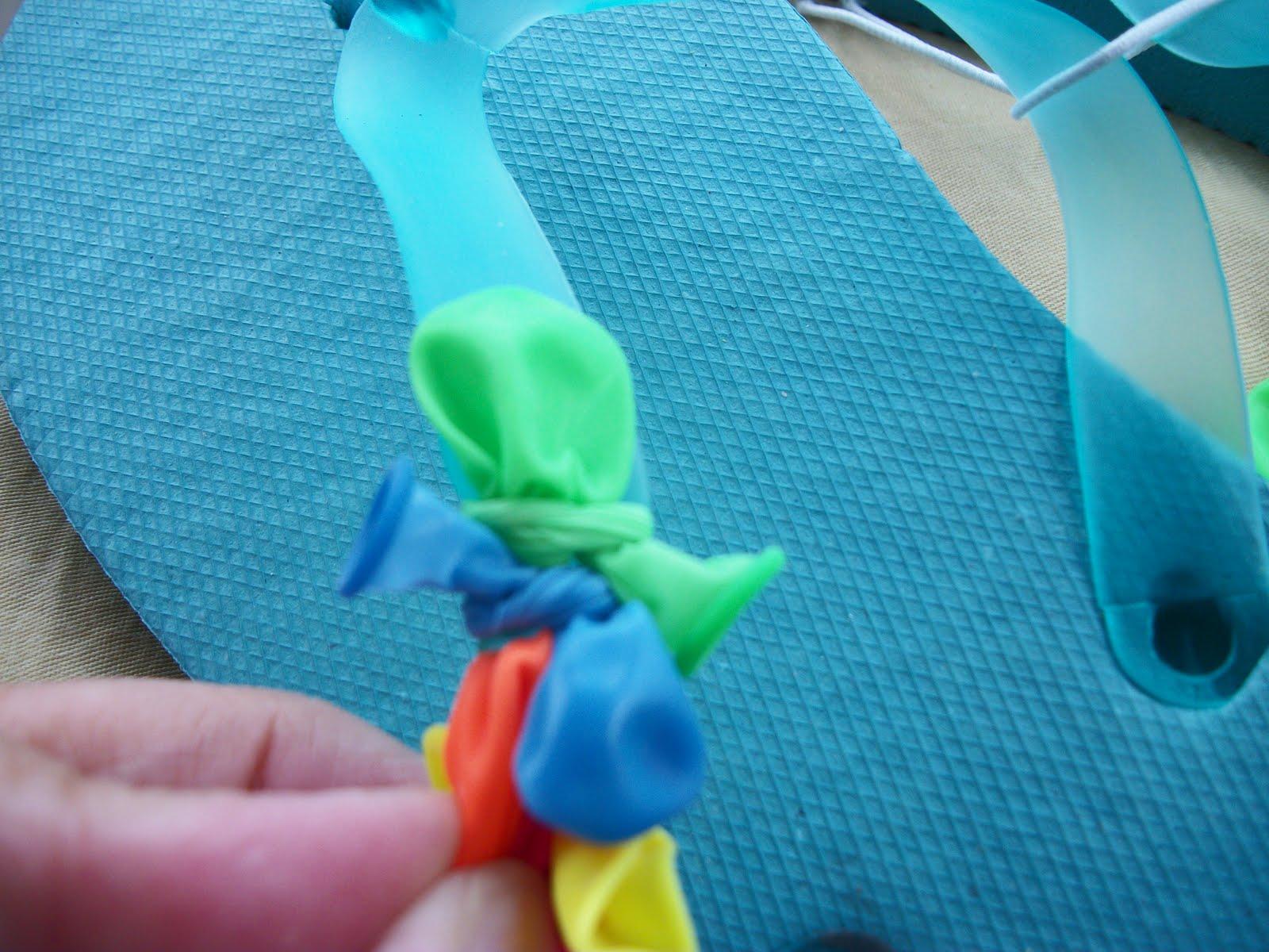 367c1af333f39 Balloon Decorated Flip Flops