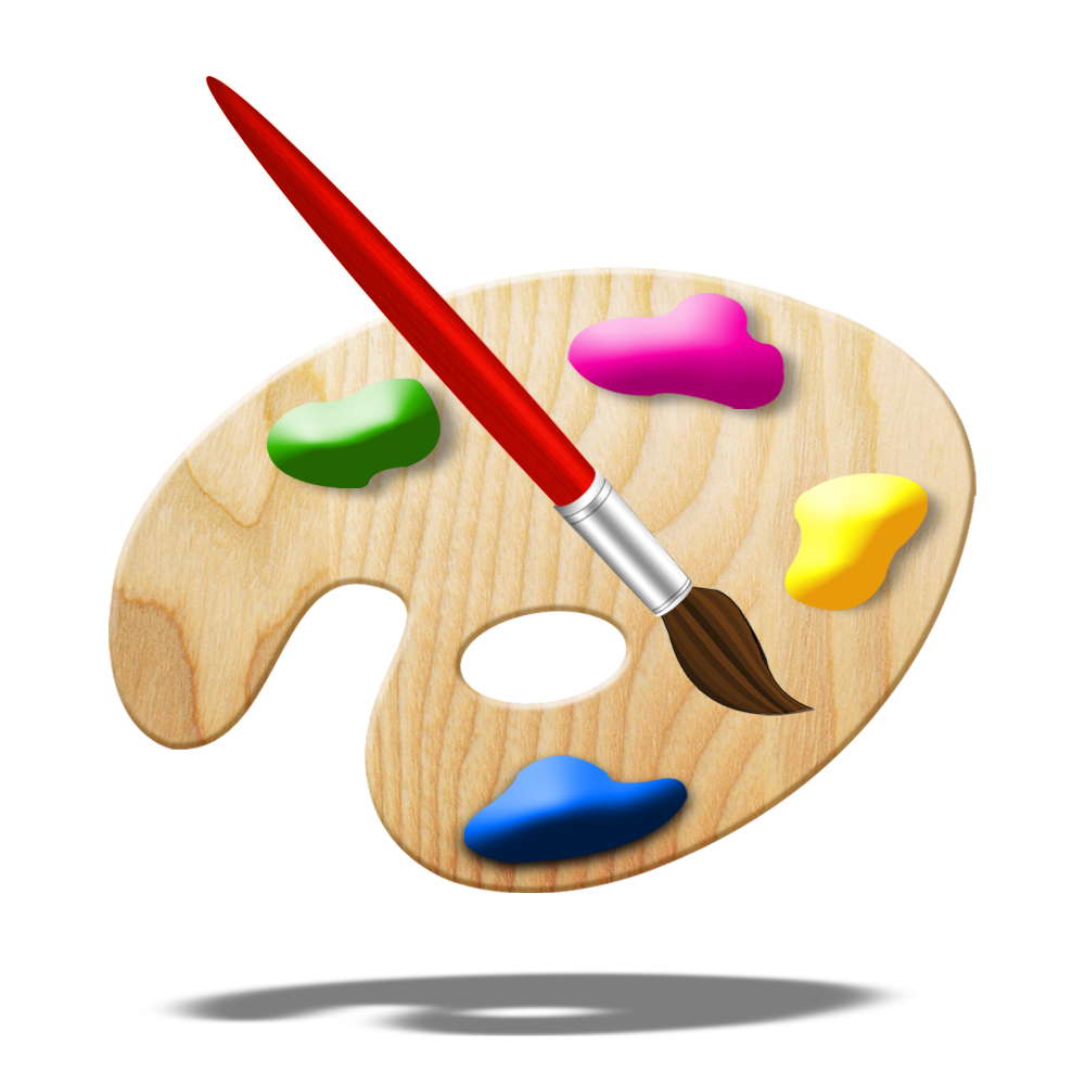 Paint Brush App Icon For iOS App And Android App