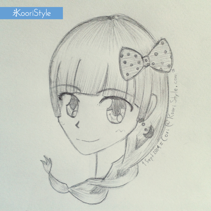 Koori Style KooriStyle Drawing Doodle Skecth Anime Ribbon Kawaii Rose Braid