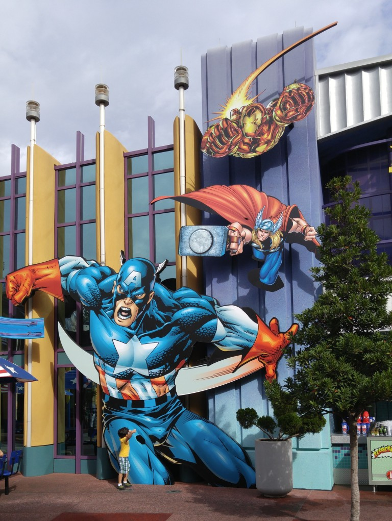 área da Marvel no Islands of Adventure