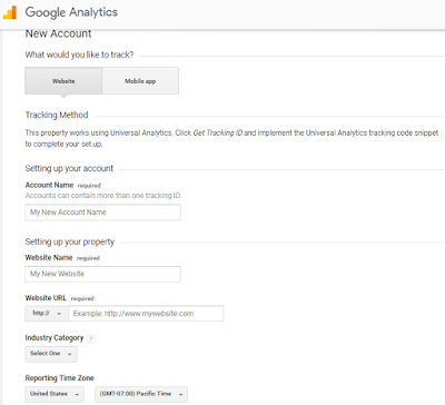 cara daftar google analytics di blogspot