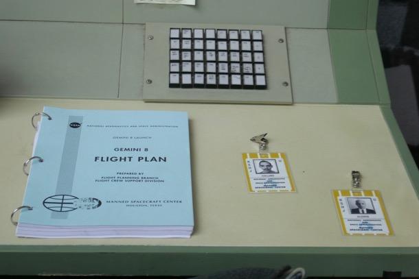 First Man NASA Gemini 8 flight plan ID props