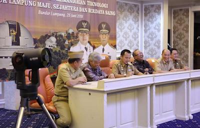 Gubernur Ridho: Teropong Bintang Lampung akan Jadi Terbaik di Asia Tenggara