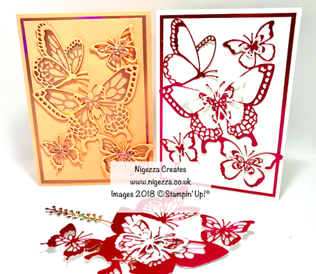 Butterfly Card Using Stampin' Up! Free Foil