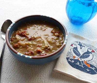 Leek Mushroom & Dried Tomato Soup