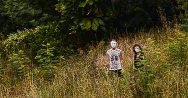 Footage of Creepy Masked Figures Stalking Group of Friends Creeps Out Viewers