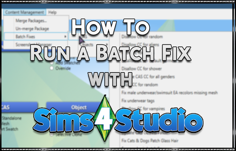 How to batch fix CC with Sims4Studio - SrslySims