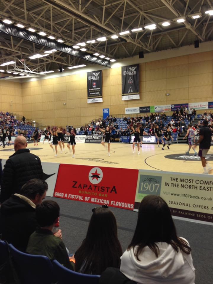 Friday Nights Out - Oh How They've Changed - a trip to watch Newcastle Eagles thanks to Zapatistas - cheerleaders
