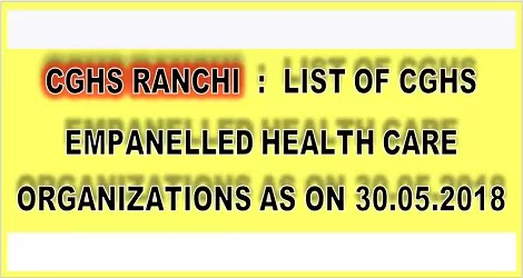 cghs-ranchi-empanelled-hospitals