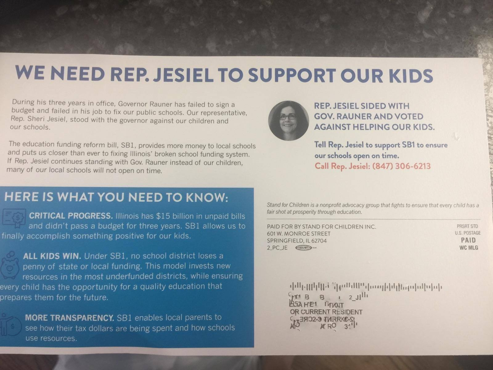 Ides illinois file my certification - You May Have Recently Received This Flyer From A Group Called Stand For Children In Your Mail If You Have Been Keeping Up With My Posts About My