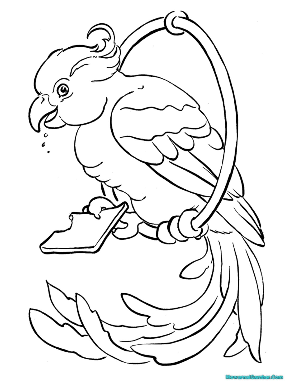 Lukisan Burung Kartun