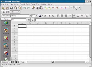 K Spread, salah satu Software Spreadsheet yang beredar di masyarakat