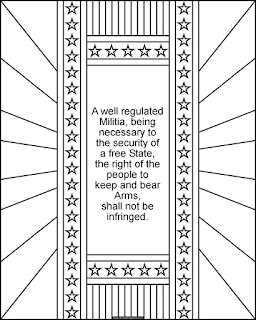 Print and color the 2nd Amendment- available in jpg and transparent png #BillOfRights #2A #Constitution