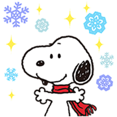 Wonderful Winter Snoopy Pop-Up Stickers