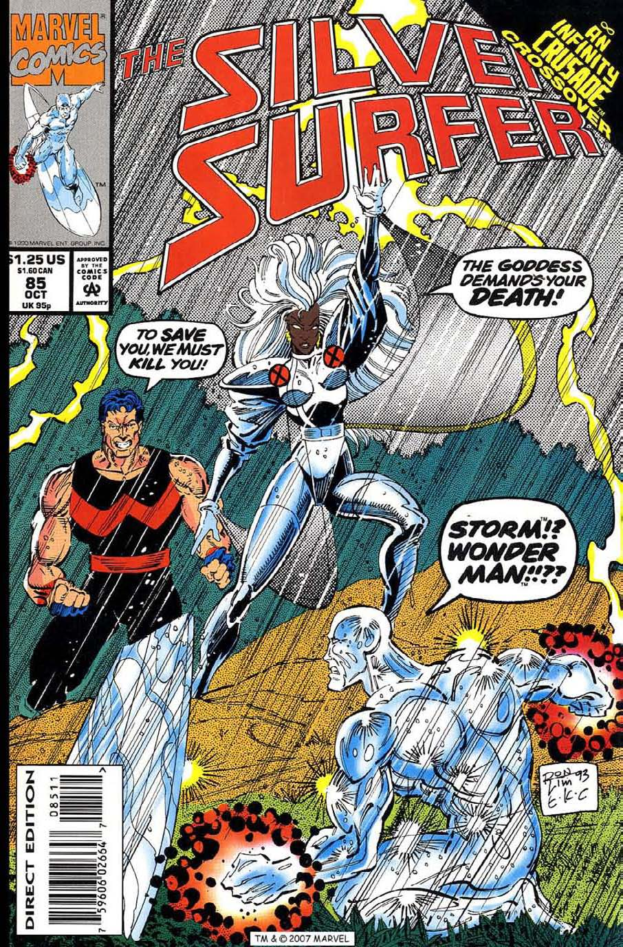 Read online Silver Surfer (1987) comic -  Issue #85 - 1