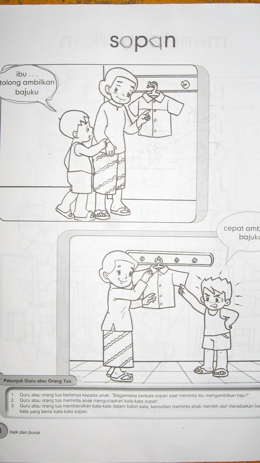 Mewarnai Baju Ibu Guru
