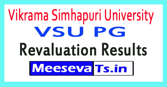 Vikrama Simhapuri University VSU PG Revaluation Results 2017