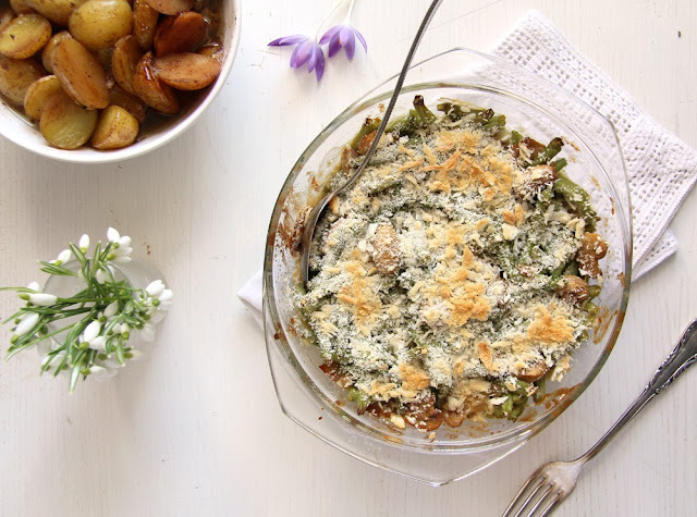 Most Popular Recipe of the Week | Healthy Green Bean Casserole from Where Is My Spoon #SecretRecipeClub #recipe #sidedish #greenbeancasserole