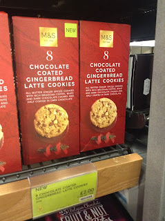 Marks & Spencer Chocolate Coated Gingerbread Latte Cookies