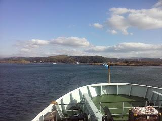 mesto Oban v Škótsku z lode