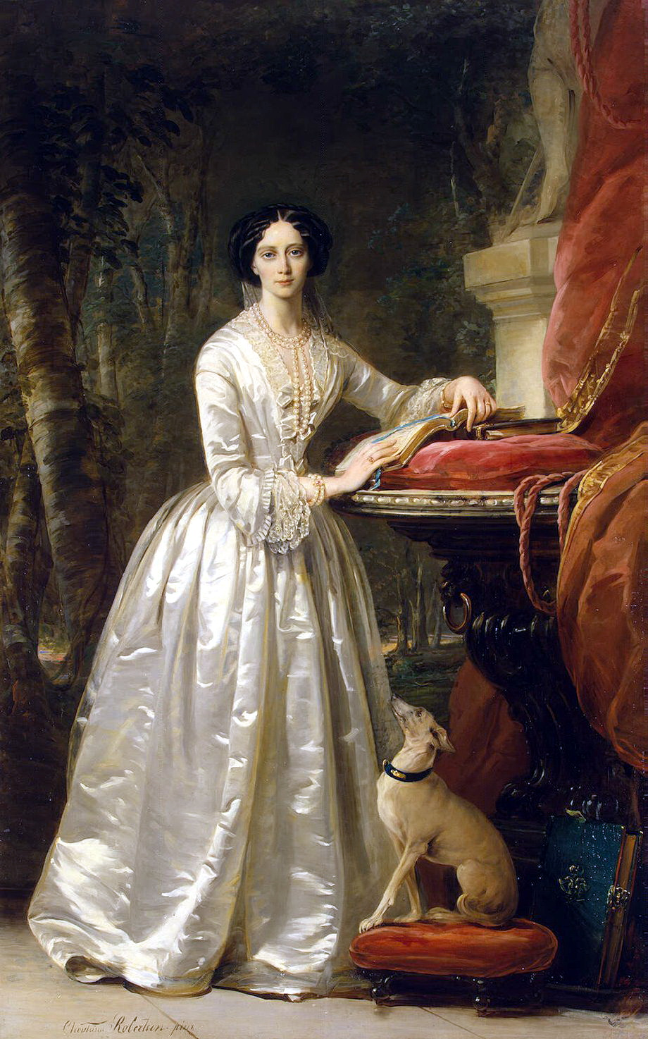 Lady Victoria Victorian Elegance Painting by Sue Halstenberg  Victorian Painting Portrait Artists