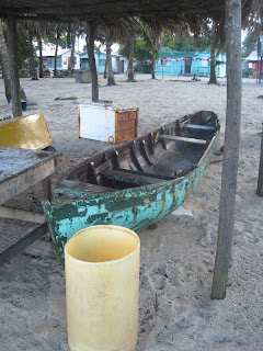 Belize dugout canoe with internal frames