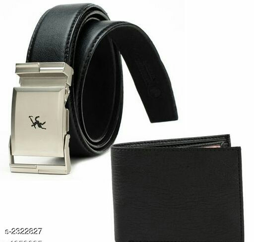 Elegant Men's Belt And Wallet