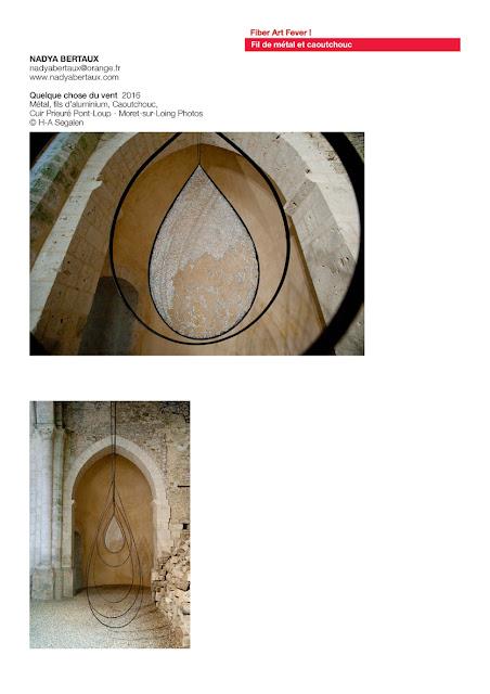 art textile contemporain, art fil de métal, art et vent