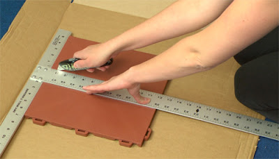 Greatmats how to cut plastic floor tiles installation