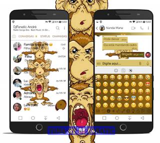 Gandhi Monkey's Theme For YOWhatsApp & Fouad WhatsApp By DJ