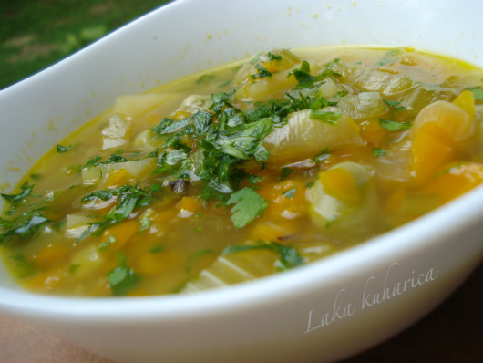 Monastery soup by Laka kuharica: this soup, worthy of it's name, is hearty, flavorful and  full of vegetable goodness.