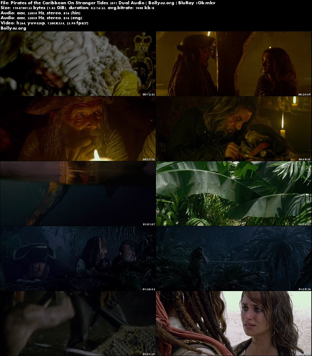Pirates of the Caribbean On Stranger Tides 2011 BRRip 400MB Hindi Dual Audio 480p Download