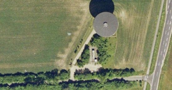 Real UFO Hovering In A Field On Google Earth UFO