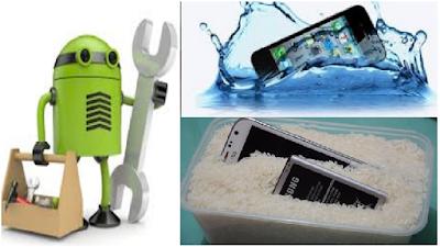 Cara Ampuh Mengatasi Ponsel / HP / Android / Smartphone Basah Terendam air atau Kehujanan