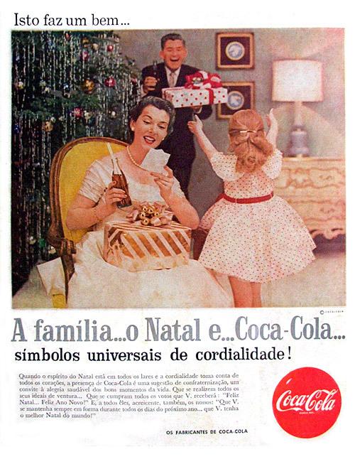 Propaganda antiga da Coca-Cola para o Natal de 1957