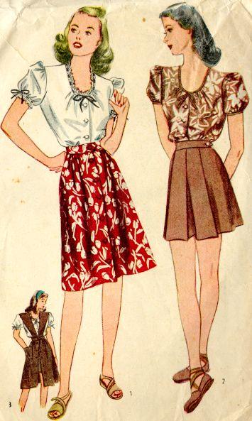 Fashion Flashback Wwii Women S Fashion: A' La Mode: Fashion During 1940's Ww2