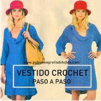 Vestido para tejer a crochet