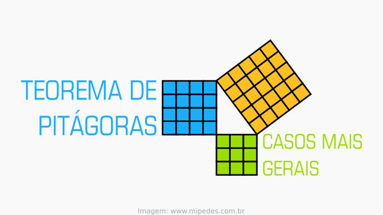 Teorema de Pitágoras: casos mais gerais
