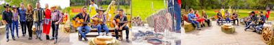 Na foto: Chris Flores e jurados com Bruna Viola e Trio Parada Dura / Bruna Viola / Costela Bovina assada no fogo de chão / Moda de Viola (Foto: Gabriel Cardoso /SBT)