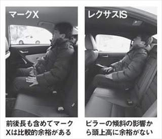 レクサス IS トヨタ マークX 室内 比較