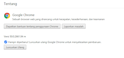 """cara upgrade google chrome terbaru"""